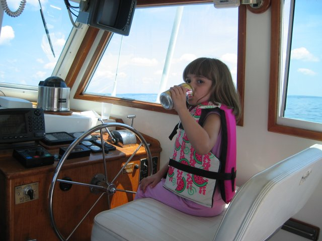 Cheryl at the Helm
